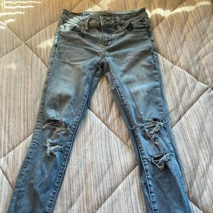 super stretchy and trendy ripped jeans